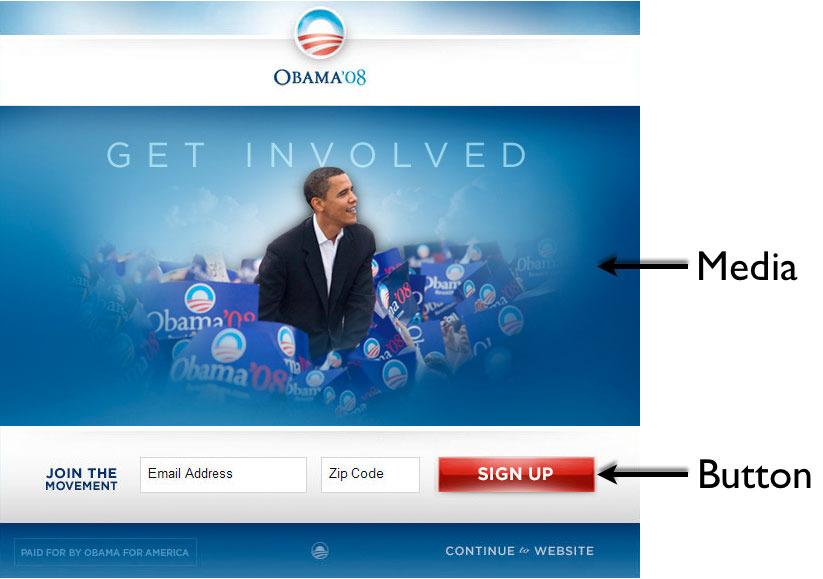 Landing Page Obama 2008