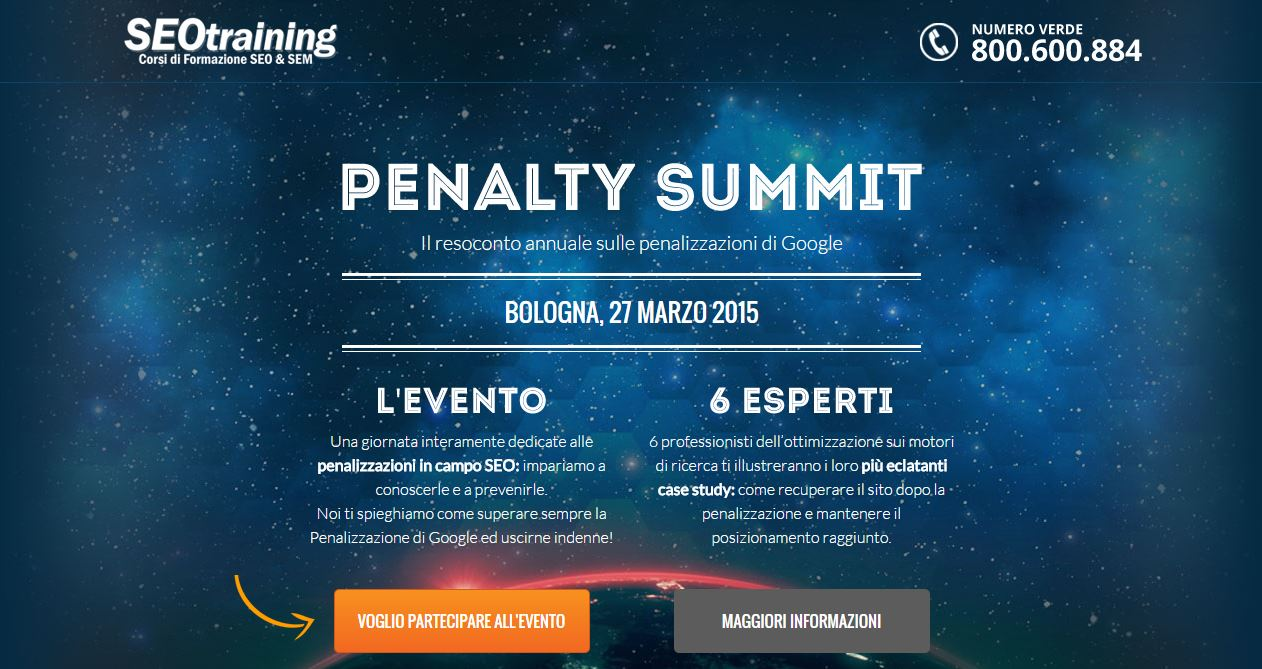 Esperto Seo al Penalty Summit