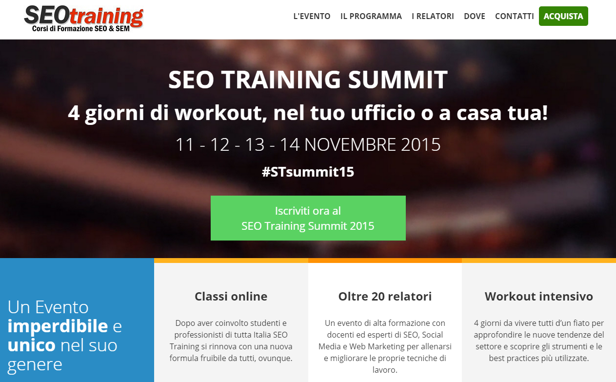 seo training summit locandina