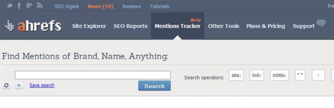 Ahrefs lancia il nuovo Mentions Tracker