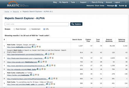 Search Explorer: il nuovo motore di ricerca di MajesticSEO