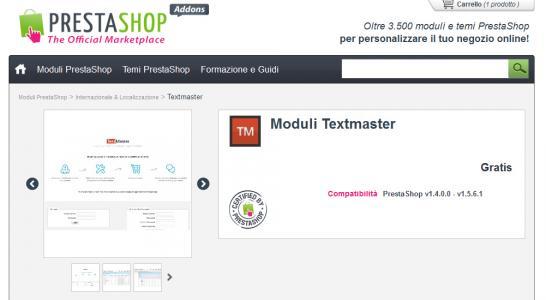 Traduci il tuo sito in Prestashop con TextMaster
